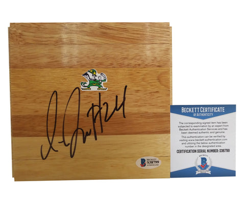 Floorboards- Autographed- Jewell Loyd Signed Notre Dame Fighting Irish 6x6 Basketball Floor, Proof - Beckett BAS Authentication - 2