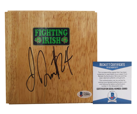 Floorboards- Autographed- Jewell Loyd Signed ND Fighting Irish Logo 6x6 Floor Board, Proof- Seattle Storm - Beckett BAS Authentication - 3