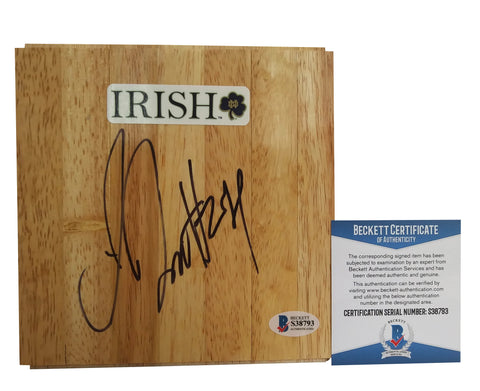 Floorboards- Autographed- Jewell Loyd Signed ND Fighting Irish Logo 6x6 Floor Board, Proof Photo - Beckett BAS Authentication - 4