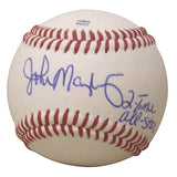 Baseballs-Autographed - John Mayberry Sr. Signed Rawlings ROLB1 Baseball with Inscription, Proof Photo- New York Yankees- Kansas City Royals- 201