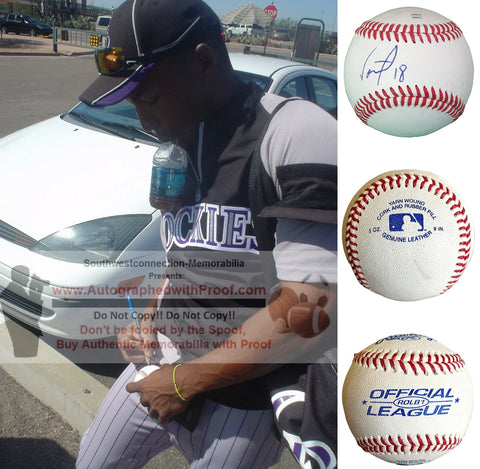 Baseballs-Autographed - Jonathan Herrera Signed Rawlings ROLB1 Leather Baseball, Proof Photo- Boston Red Sox- Chicago Cubs- Collage- 4