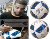 Soccer-Autographed - Jordan Hamilton Signed MLS Adidas White Soccer Ball, Proof Photo Collage 1