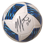 Soccer-Autographed - Jordan Hamilton Signed MLS Adidas White Soccer Ball, Proof Photo 101
