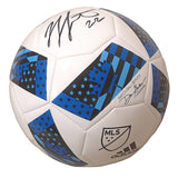 Soccer-Autographed - Jordan Hamilton Signed MLS Adidas White Soccer Ball, Proof Photo 102