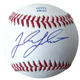 Baseballs- Autographed- Jordan Luplow Signed Rawlings ROLB1 Baseball Proof Photo- Cleveland Indians- Pittsburgh Pirates - 201