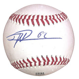 Baseballs- Autographed- Jose LeClerc Signed Rawlings ROLB1 Official League Leather Baseball- Texas Rangers- 101