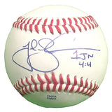 Baseballs- Autographed- Josh Lindblom Signed Rawlings ROLB Leather Baseball Proof Photo- Oakland Atheltics A's- Los Angeles Dodgers- 101