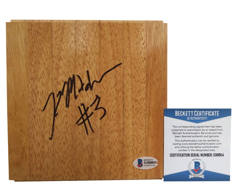 Basketballs- Autographed- Kelsey Mitchell Signed 6x6 Floorboard, Proof Photo-Indiana Fever - Beckett BAS 1