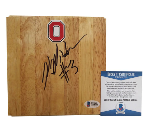 Basketballs- Autographed- Kelsey Mitchell Signed Ohio State Buckeyes 6x6 Floorboard, Proof Photo - Beckett BAS 3