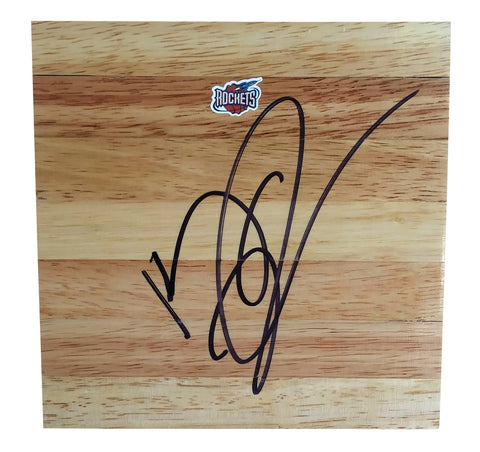 Basketball Floorboards- Autographed- Kenny Thomas Signed Houston Rockets 6x6 Floor Board, Proof