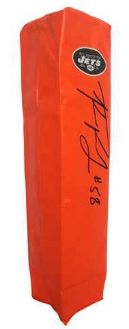 Football End Zone Pylons-Autographed - Kevin Pierre-Louis Signed New York Jets TD Pylon, Proof