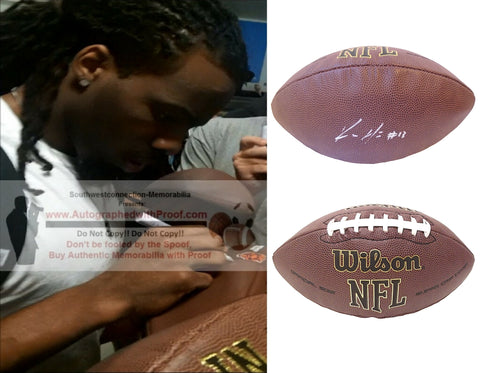 Football-Autographed - Kevin White Signed NFL Wilson Composite Football, Proof Photo- San Francisco 49ers- Chicago Bears- Arizona Cardinals- West Virginia Mountaineers- Collage- 3