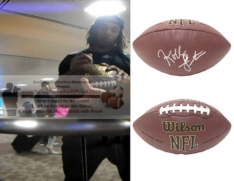Football-Autographed - Kolby Listenbee Signed NFL Wilson Composite Football, Proof Photo- Indianapolis Colts- Buffalo Bills- TCU Texas Christian University Horned Frogs- Collage- 2