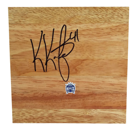 Basketball Floorboards- Autographed- Kosta Koufos Signed Sacramento Kings 6x6 Floor Board, Proof