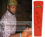 Football End Zone Pylons-Autographed - Le'Ron McClain Signed San Diego Chargers TD Pylon, Proof- Collage- 1