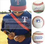 Baseballs- Autographed- Leonys Martin Signed ROLB Baseball, Proof- Texas Rangers- Detroit Tigers- Collage- 1
