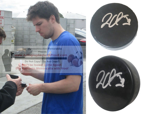 Hockey Pucks-Autographed - Logan Couture Signed Hockey Puck, Proof Photo- San Jose Sharks- Collage 5