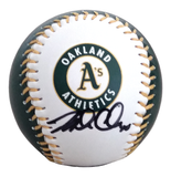 Baseballs- Autographed- Mark Canha Signed Oakland A's Athletics Logo ROMLB Baseball - Proof Photo - Beckett BAS Authentication - 603