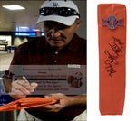 Football End Zone Pylons-Autographed - Mark Rypien Signed Super Bowl XXVI Football TD Pylon, Proof- Washington Redskins- Collage