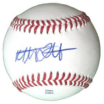 Baseballs-Autographed - Mat Latos Signed Rawlings ROLB1 Leather Baseball, Proof Photo- San Diego Padres- Washington Nationals- 401