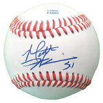 Baseballs-Autographed - Matt Harrison Signed Rawlings ROLB1 Leather Baseball, Proof Photo- Texas Rangers- Philadelphia Phillies- 501