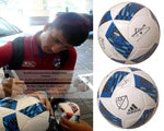 Soccer-Autographed - Mauro Diaz Signed Adidas MLS Logo White Soccer Ball, Proof Photo Collage 1