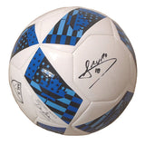 Soccer-Autographed - Mauro Diaz Signed Adidas MLS Logo White Soccer Ball, Proof Photo 101