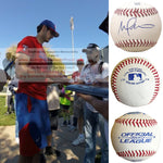 Baseballs-Autographed - Michael Matuella Signed Rawlings ROLB1 Leather Baseball, Proof Photo- Texas Rangers- Collage- 1