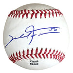 Baseballs- Autographed- Mike Fiers Signed Rawlings ROLB1 Leather Official League Baseball - Oakland A's Athletics - Houston Astros - 101