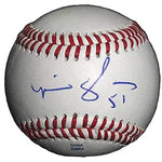 Baseballs-Autographed - Mike Gonzalez Signed Rawlings ROLB1 Leather Baseball, Proof Photo- Milwaukee Brewers- Pittsburgh Pirates- 101