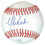 Baseballs-Autographed - Mike Leake Signed Rawlings ROLB1 Leather Baseball, Proof Photo- St Louis Cardinals- Cincinnati Reds- 201