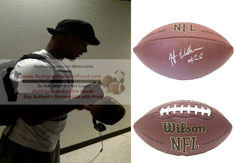 Football-Autographed - P.J. Williams Signed NFL Wilson Composite Football, Proof Photo- New Orleans Saints- FSU Florida State University Seminoles- Collage 2