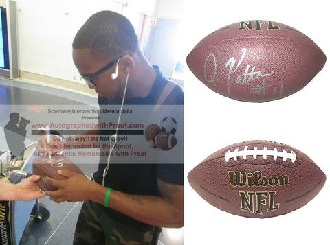 Football-Autographed - Quinton Patton Signed NFL Wilson Composite Football, Proof Photo- New York Jets- San Francisco 49ers- Collage- 1