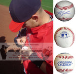 Baseballs-Autographed - Reggie Willits Autographed Rawlings ROLB1 Leather Baseball, Proof Photo- Los Angeles Angels- Collage- 1