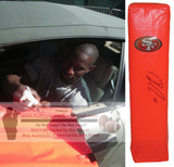 Football End Zone Pylons-Autographed - Ricardo Lockette Signed San Francisco 49ers TD Pylon, Proof- Collage- 1