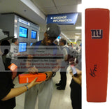 Football End Zone Pylons-Autographed - Rueben Randle Signed New York Giants Football TD Pylon, Proof- Collage- 3