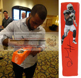 Football End Zone Pylons-Autographed - Ryan Mathews Signed San Diego Chargers Photo TD Pylon, Proof- Collage- 1