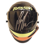 Nascar Helmets-Autographed - Ryan Newman Signed Nascar Tornados #39 Mini Helmet, Proof Photo 101