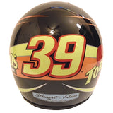 Nascar Helmets-Autographed - Ryan Newman Signed Nascar Tornados #39 Mini Helmet, Proof Photo 104
