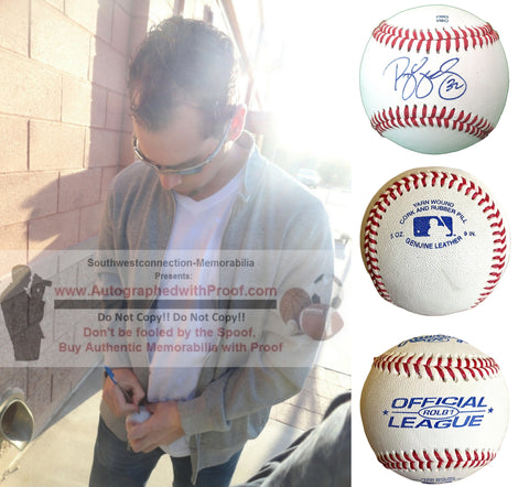 Baseballs-Autographed - Ryan Vogelsong Signed Rawlings ROLB1 Leather Baseball, Proof Photo- San Francisco Giants- Pittsburgh Pirates- Collage- 3