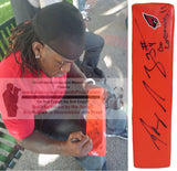 Football End Zone Pylons-Autographed - Ryan Williams Signed Arizona Cardinals TD Pylon Proof- Collage- 1