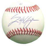 Baseballs-Autographed - Scott Van Slyke Signed Rawlings ROLB Leather Baseball, Proof Photo- Los Angeles Dodgers- 101