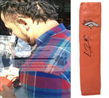 Football End Zone Pylons-Autographed - Shane Ray Signed Denver Broncos Football TD Pylon- Missouri Tigers- Proof- Collage 1