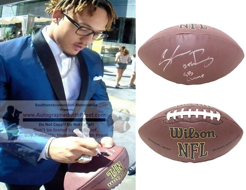 Football-Autographed - Shane Ray Signed NFL Wilson Composite Football W/ Inscription, Proof Photo- Denver Broncos- Missouri Tigers- Collage- 4