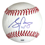 Baseballs- Autographed- Stephen Piscotty Signed Rawlings ROLB1 Baseball- Oakland Athletics A's - Proof 201
