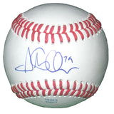 Baseballs-Autographed - Steve Ames Signed Rawlings ROLB1 Leather Baseball, Proof Photo- Los Angeles Dodgers- 301