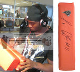 Football End Zone Pylons-Autographed - Tavon Austin Signed Los Angeles Rams Football TD Pylon, Proof- Collage- 1