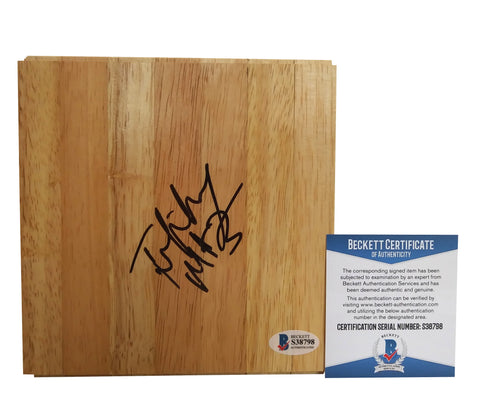 Basketballs-Autographed - Tiffany Mitchell Signed 6x6 Parquet Basketball Floor, Proof - Beckett BAS 1