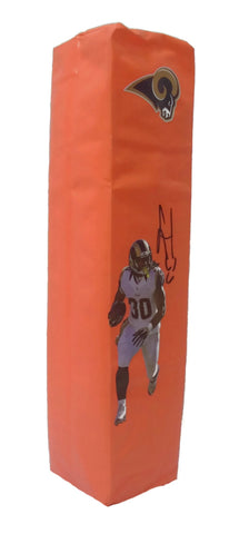 End Zone Pylons- Autographed- Todd Gurley Signed Los Angeles Rams Photo Football Pylon, Proof Photo