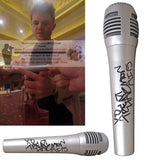 Microphones-Autographed - Trent Harmon Signed Pyle Full Size Microphone with American Idol Inscription, Proof Photo Collage 2